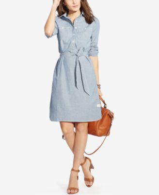 ccd6617b9dc4 Lauren Ralph Lauren Striped Shirtdress
