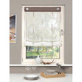raffrollo karin scherli mit sen und haken stein gardinen. Black Bedroom Furniture Sets. Home Design Ideas