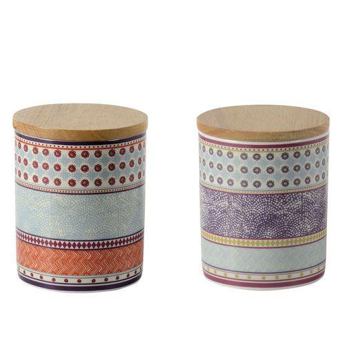 Pot avec couvercle bois (par 2) Voyage Jardin d\'Ulysse | Chouette ...