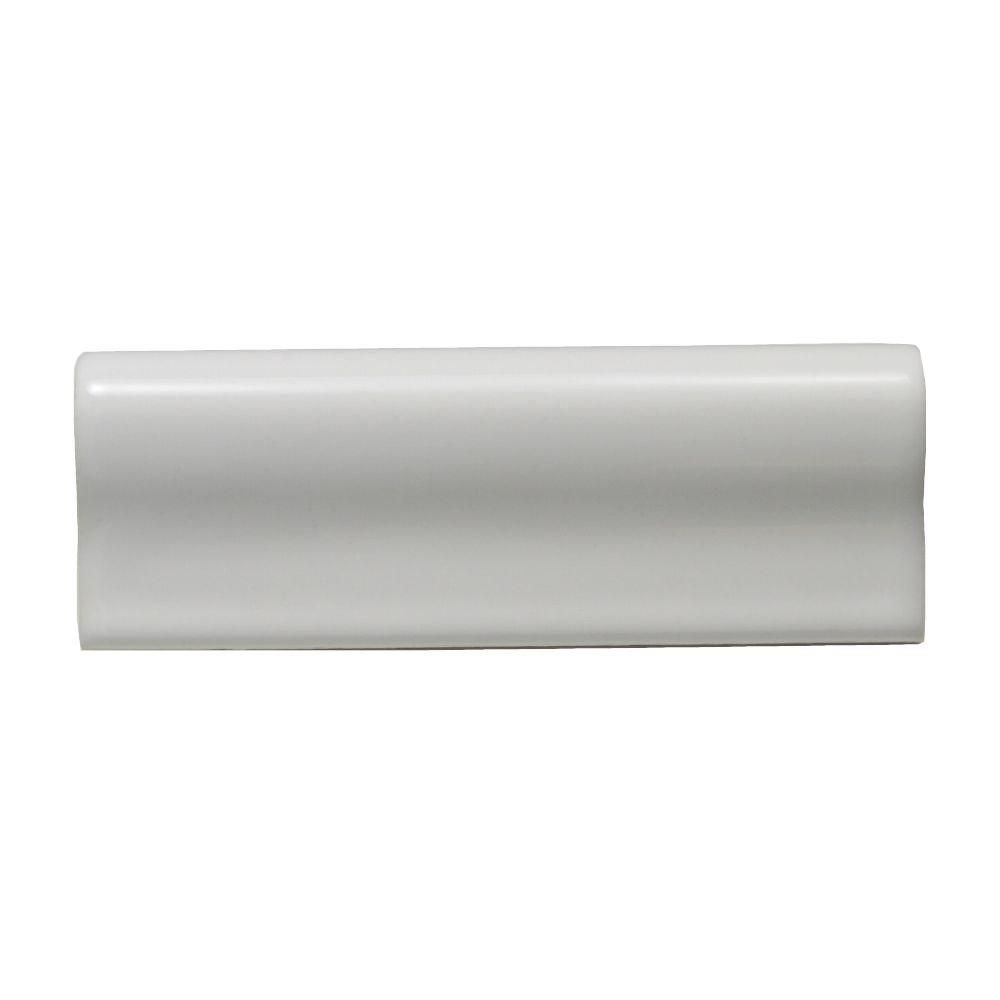 Superb Daltile 2 X 6 Chair Rail Part - 9: Daltile Liners White 2 In. X 6 In. Ceramic Chair Rail Trim Wall Tile