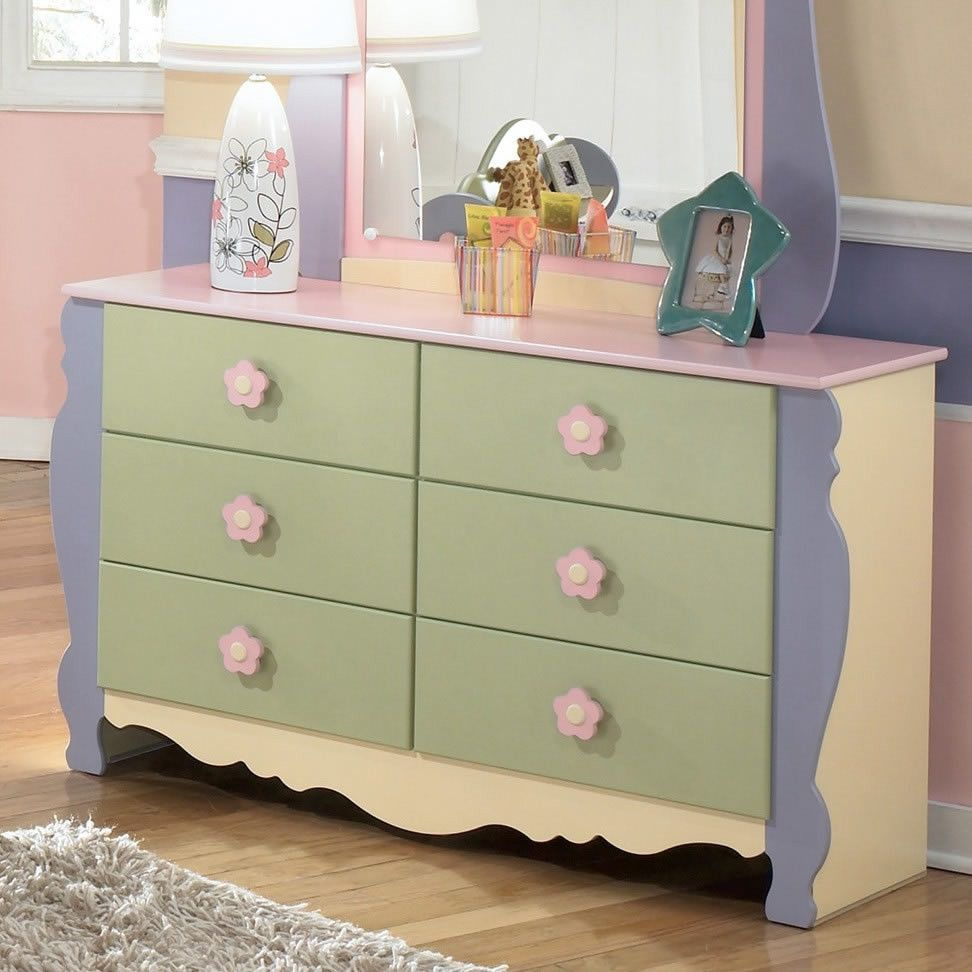 Ashley Furniture B140-21 Doll House Youth Dresser - Multi-Color ...