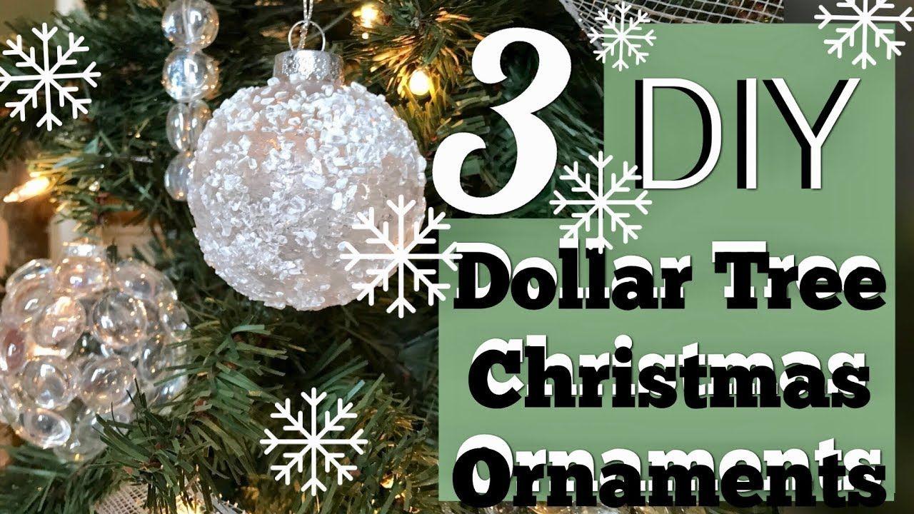 3 Cheap Easy Winter Wonderland Ornaments Dollar Tree Christmas Diy Youtube Diy Christmas Tree Ornaments Dollar Tree Christmas Christmas Diy
