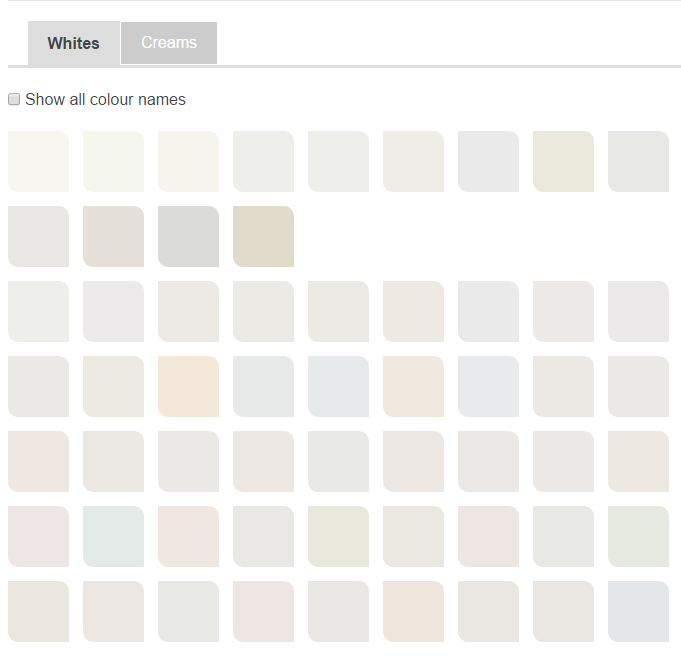 Dulux Whites Color Chart