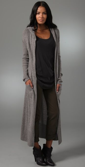 Hooded Duster Sweater | Dusters, Clothes and Dream closets