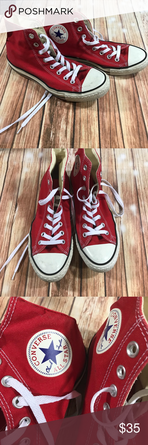 41bb9a07510f All star chuck Taylor red and white converse Gently used condition