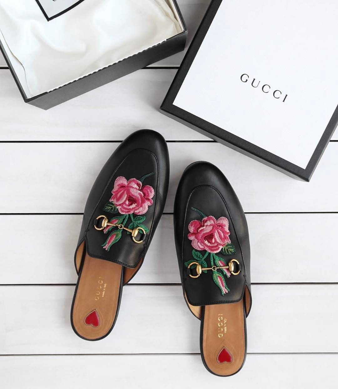 Gucci | Loafers | White | Flowers
