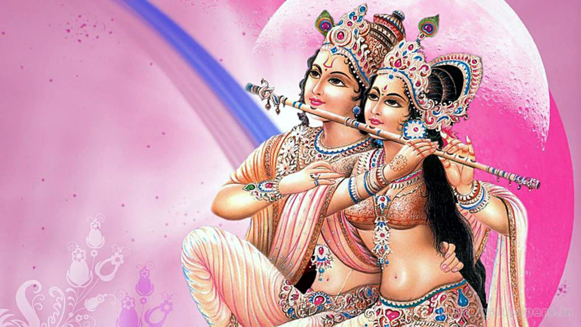 Lord Krishna and radha HD wallpaper for download