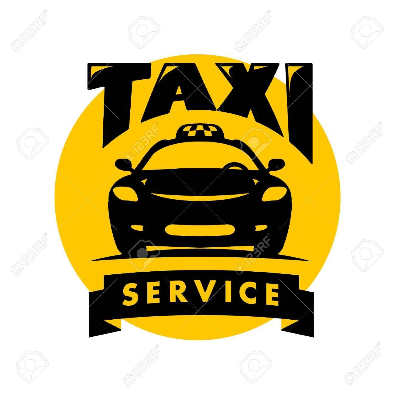 Vector Flat Taxi Logo Isolated On White Background Car Face Icon Silhouette Auto Logo Template Taxi Service Brand Design Aff Face Icon Taxi Emoji Photo [ 1300 x 1300 Pixel ]