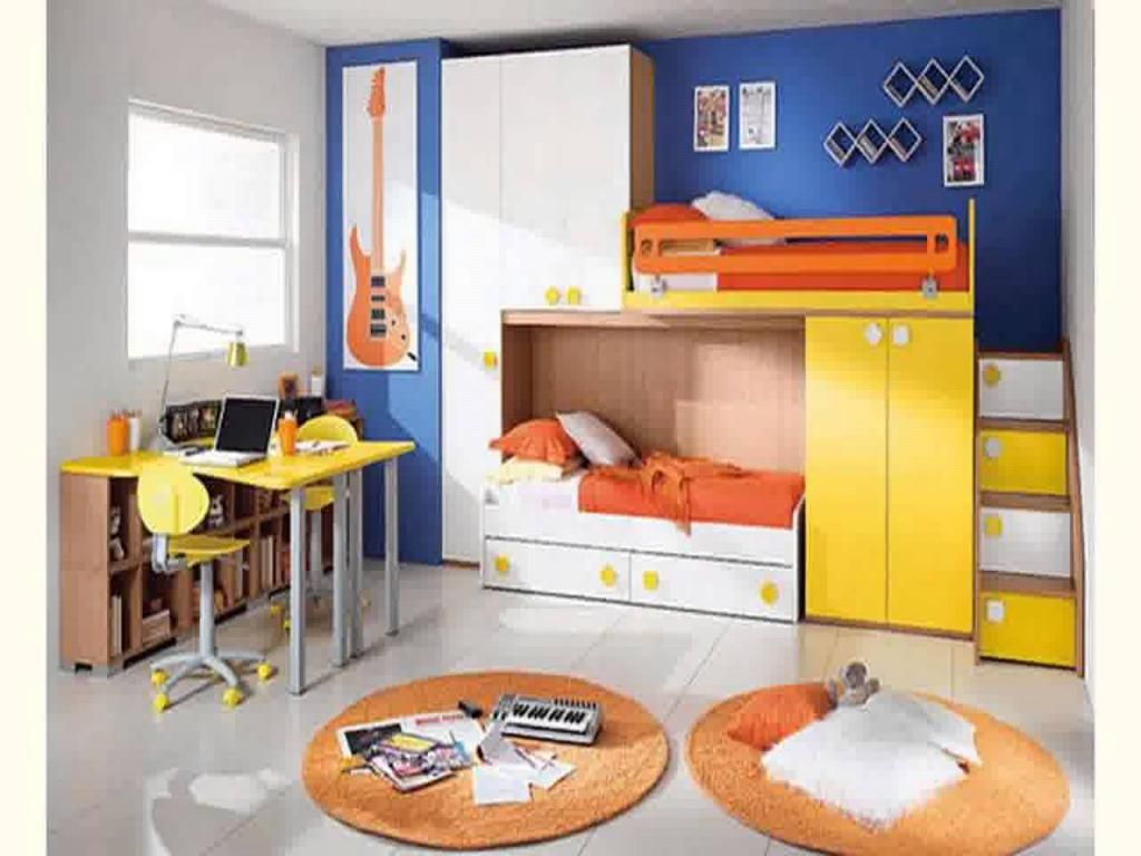 Room Ideas For Small Spaces colorful-boy-room-ideas-small-spaces-with-yellow-and-orange