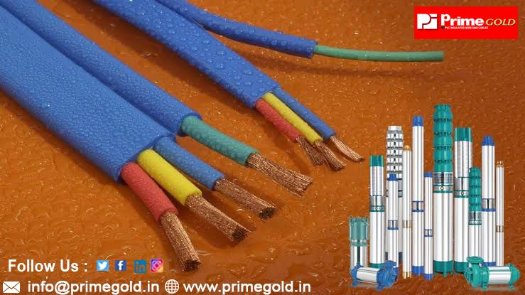 Flat Submersible Cable Prime Gold In 2020 Submersible Pump Submersible Wet Surface