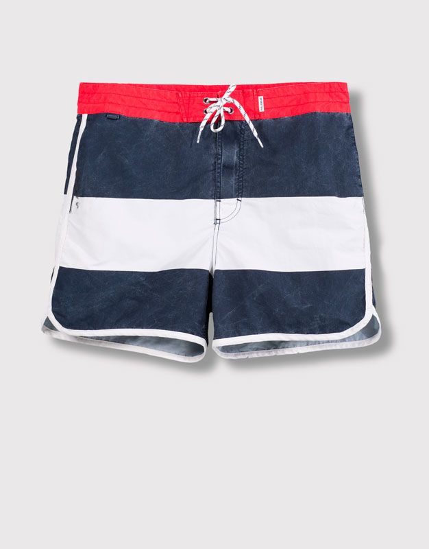 8a0bf73839 Pull&Bear - man - swimsuits - striped swimsuit - navy - 05801500-V2016