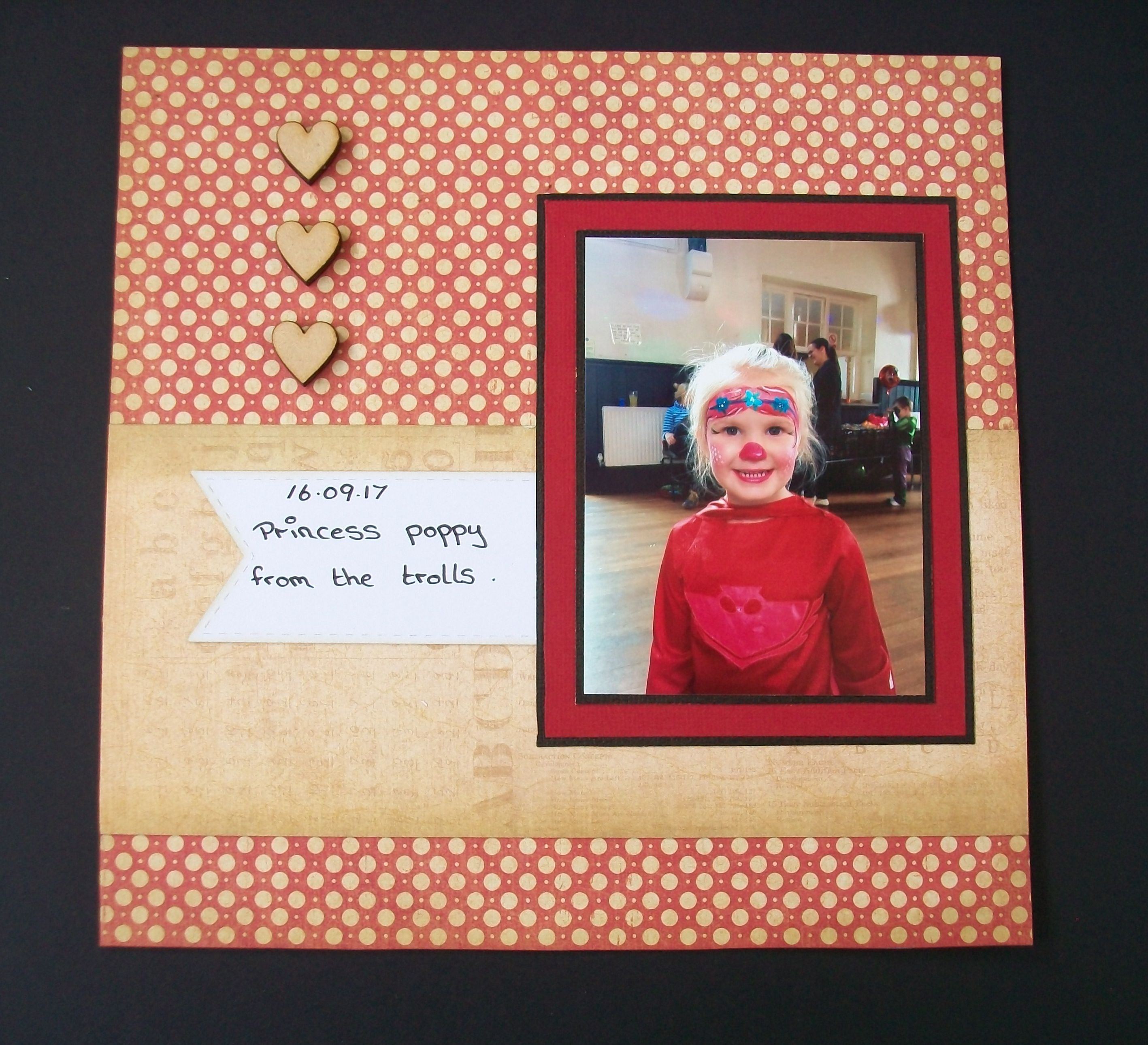 October Scrapbook Layout 8x8