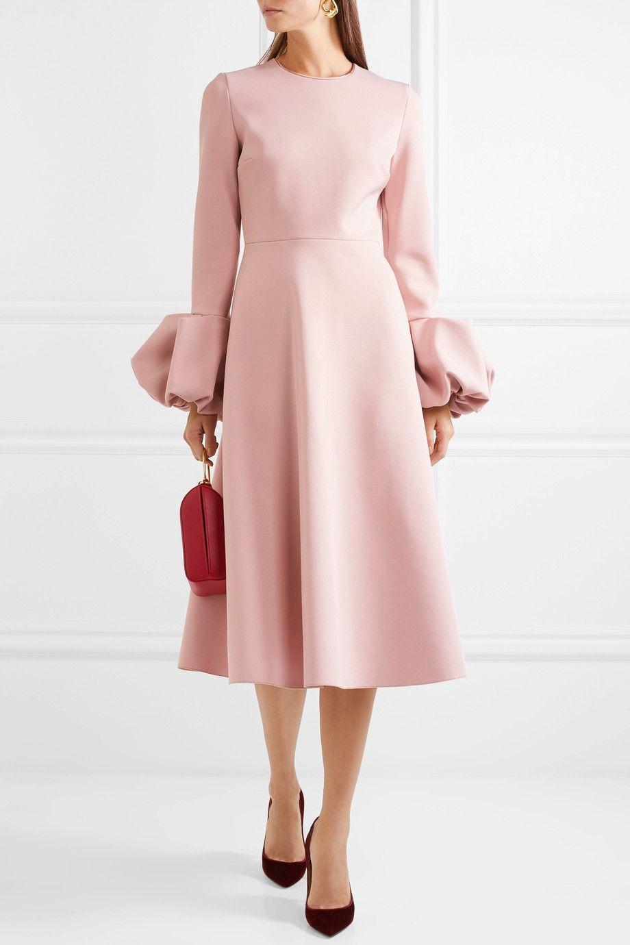 Roksanda | Crepe midi dress | NET-A-PORTER.COM | bikin giniiii ...