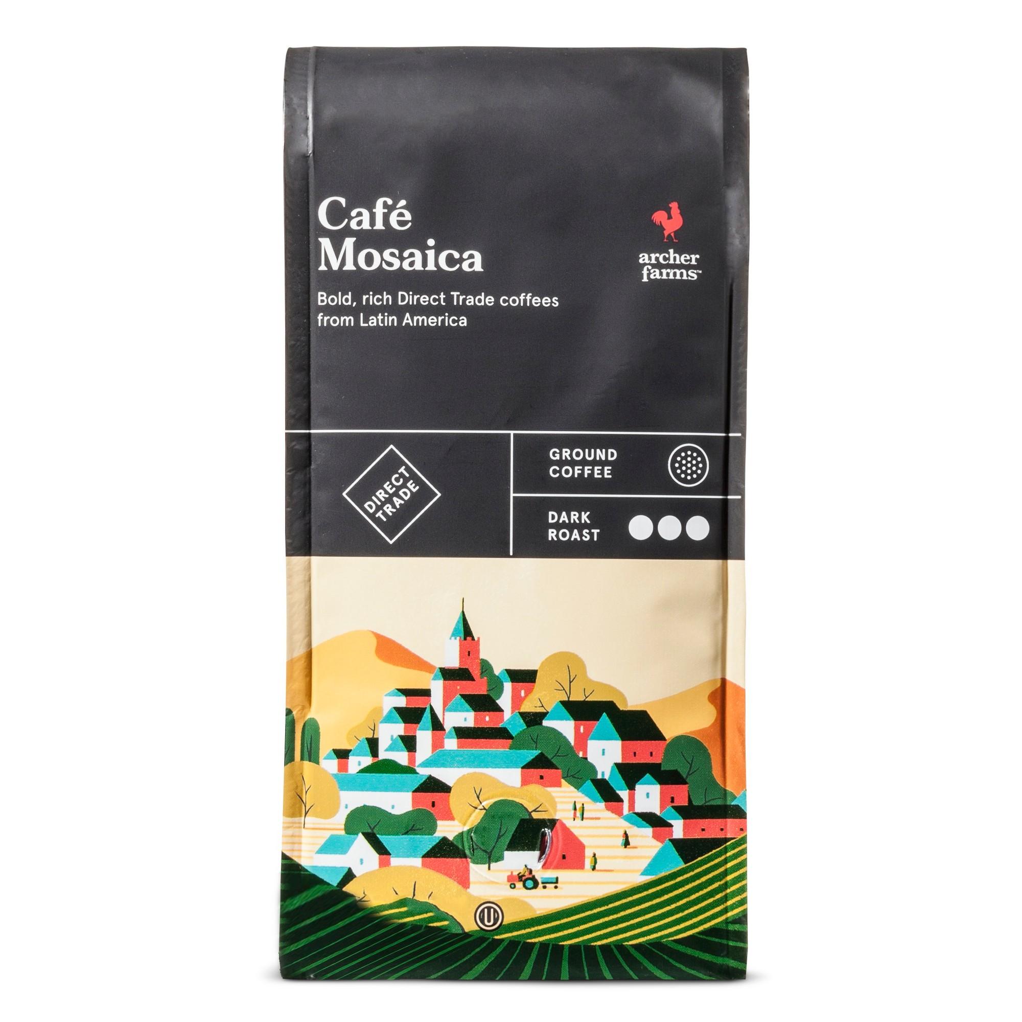 Küchenideen ziegel café mosaica dark roast ground coffee  oz  archer farms