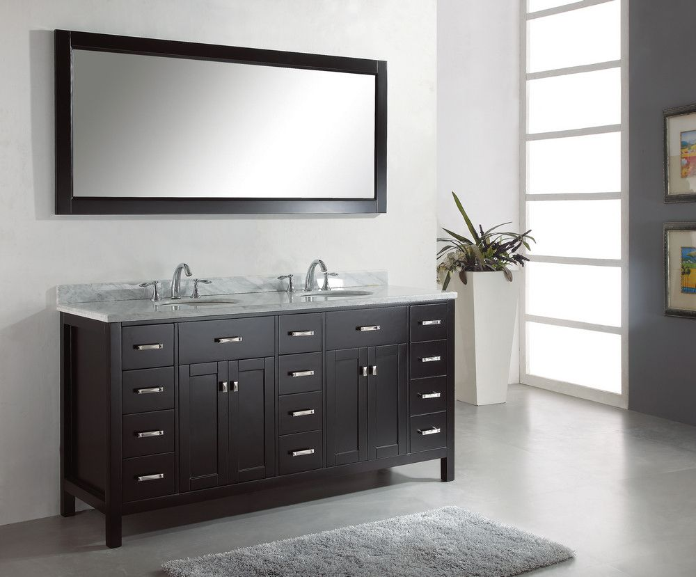 Double Sink Vanity Cabinet. bathroom vanity bath lafayette house pinterest dark black double  sink cabinets with single
