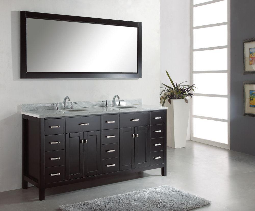 Bathroom Vanity Bath Lafayette House Pinterest Bathroom Dark Black Fair 72 Inch Bathroom Vanity Double Sink Decorating Inspiration