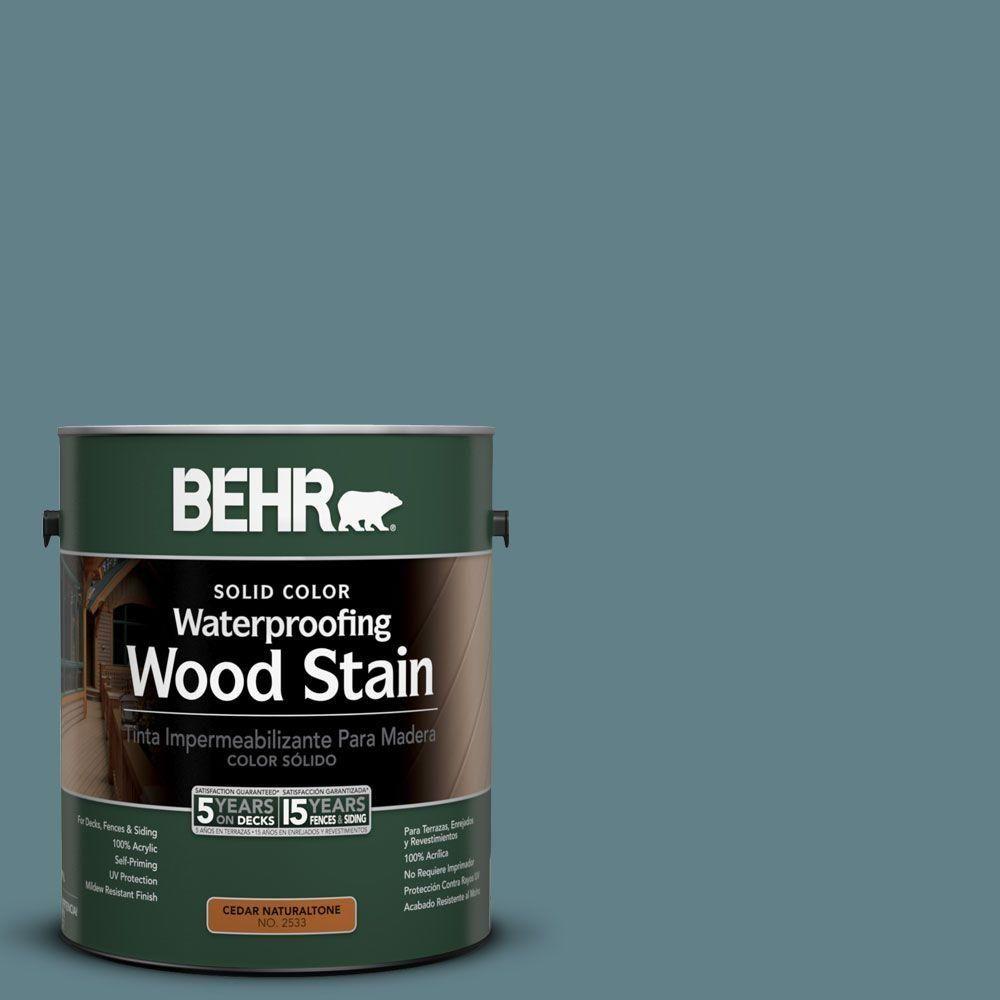 BEHR DECKPLUS 1 Gal. #SC 113 Gettysburg Solid Color Waterproofing Wood Stain