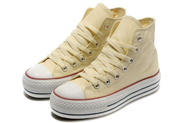 a1087778003b All Star Converse Platform High Tops Classic Beige Canvas Shoes For Women   BN121109  -  52.00   Converse American Flag and Converse UK Flag gloss  your life!