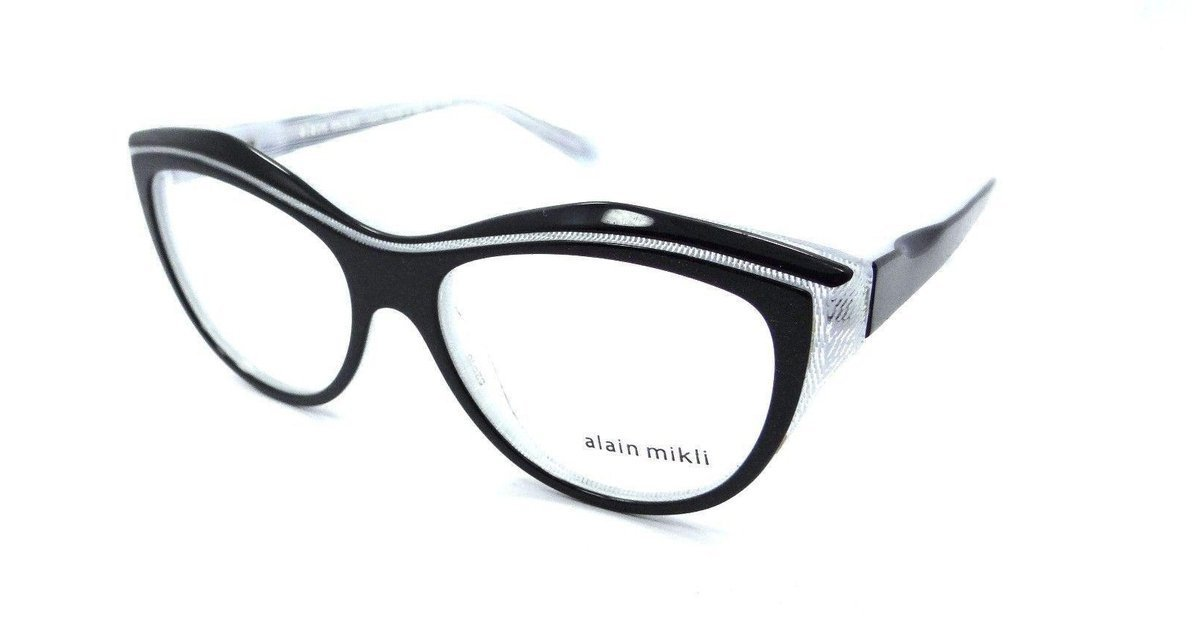 e4ca22dcaaf Alain Mikli Rx Eyeglasses Frames A03041 C010 52x16 Black Glitter White Dot  Italy
