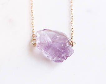 Raw amethyst necklace healing amethyst jewelry healing amethyst raw amethyst necklace healing amethyst jewelry healing amethyst crystal amethyst necklace raw aloadofball Image collections