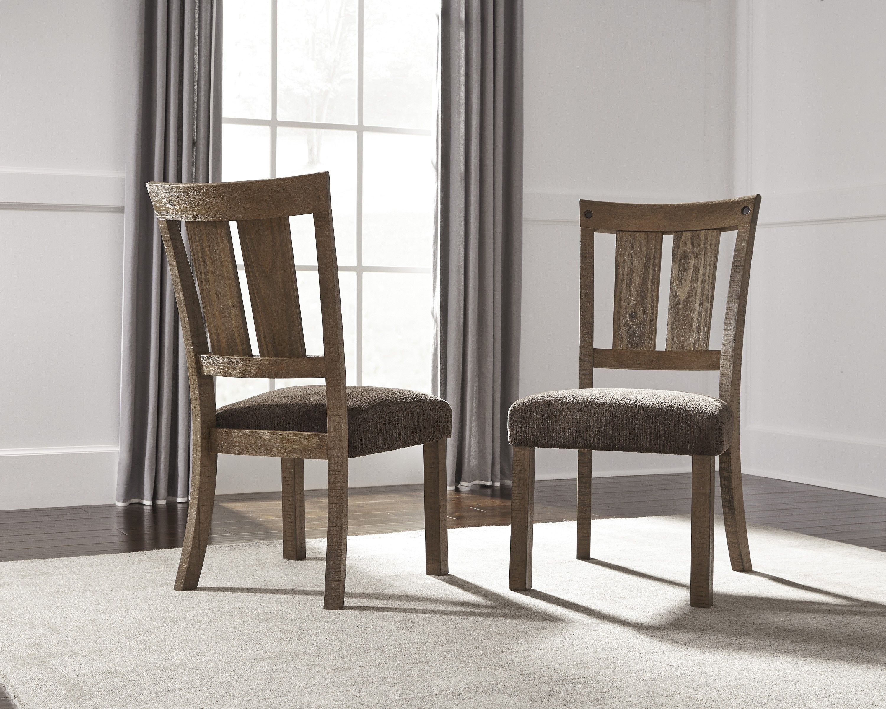 Tamilo Dark Brown Dining Upholstered Side Chair - Set of 2