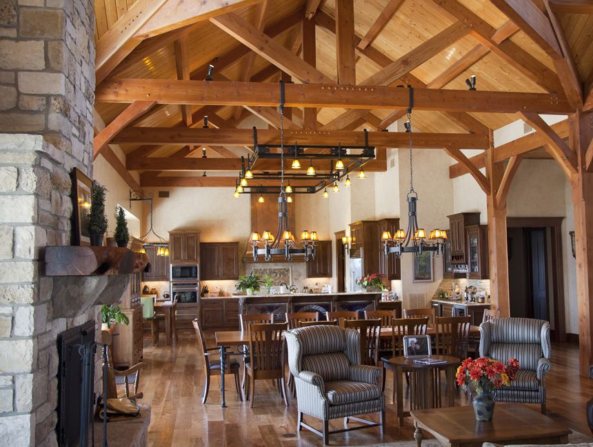 Open Concept Country Kitchen Layouts texas timber frames | residential hill country home photo gallery