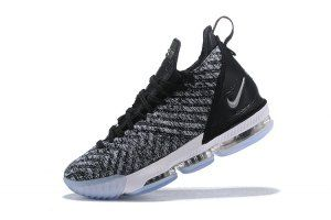 a5c94d1c00b02 Mens Nike LeBron 16 Oreo AO2588-006 Basketball Shoes