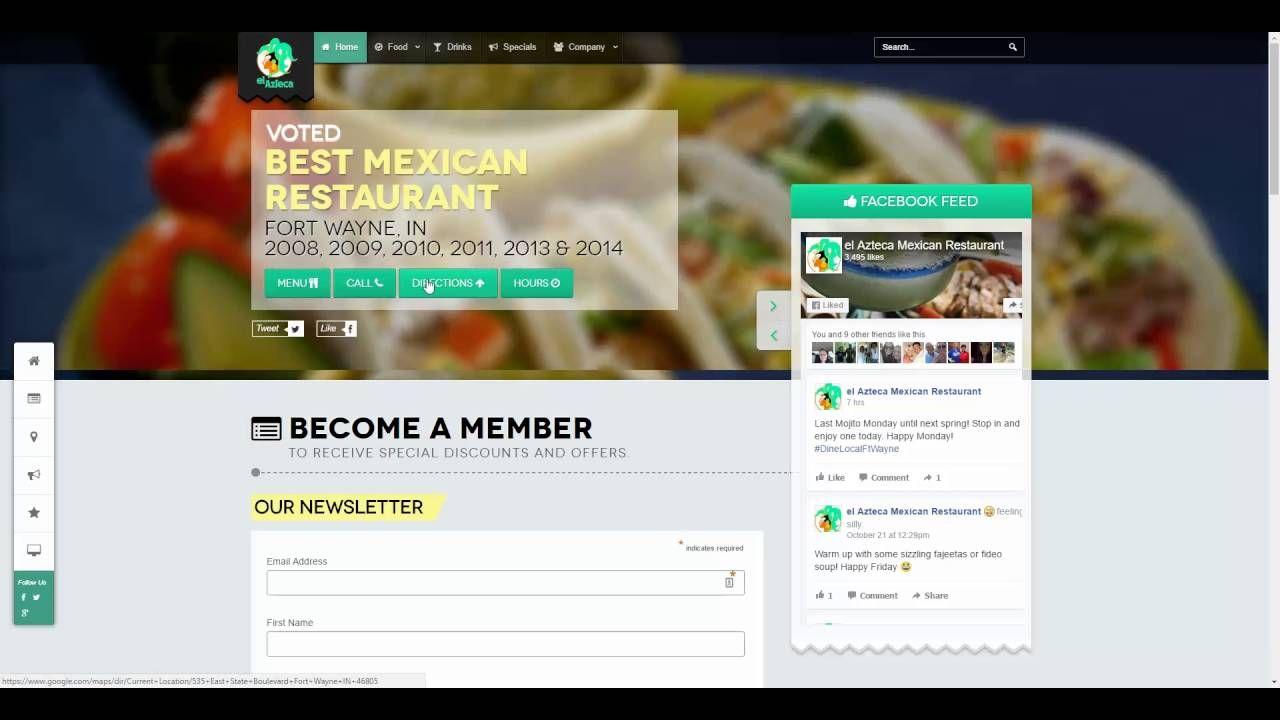 Web design example in Joomla by Fort Wayne web developer