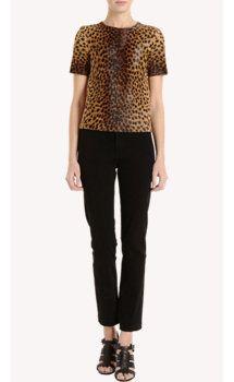 Barneys New York Leopard Print Pony Tee, select by Model & Barneys New York Influencer, Nicole Trunfio