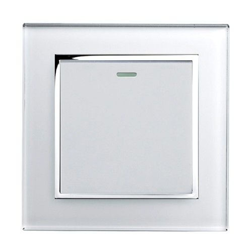 Retrotouch Crystal White Chrome Trim 1 Gang 2 Way