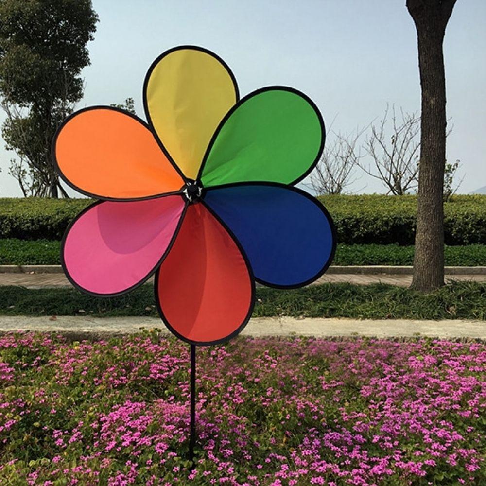 Rainbow Windmill Pinwheel Wind Spinner Outdoor Yard Garden Decor Kids Toy Gift