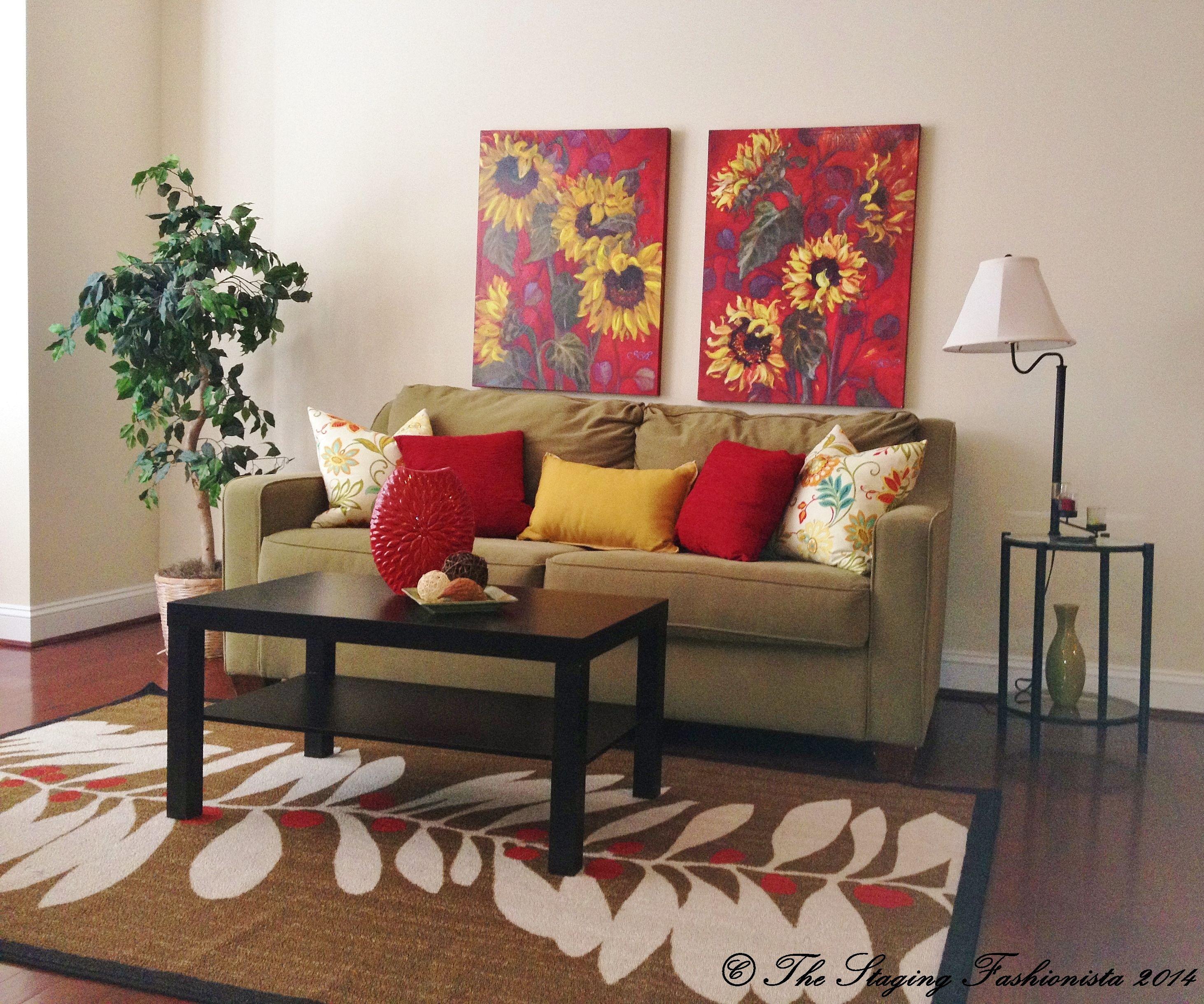 Living Room Staging Ideas: Staged Living Room In Woodbridge, VA