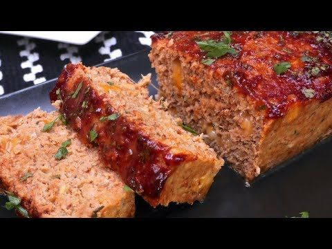 Cheesy Bbq Turkey Meatloaf Delicious But Too Salty Next Time I Ll Either Leave Out The Added Sal Turkey Meatloaf Bbq Turkey Meatloaf Turkey Meatloaf Recipes