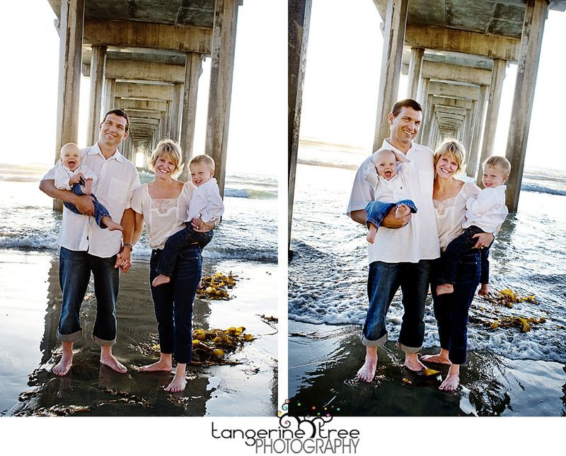 Family session under the scripps pier tangerine tree photography
