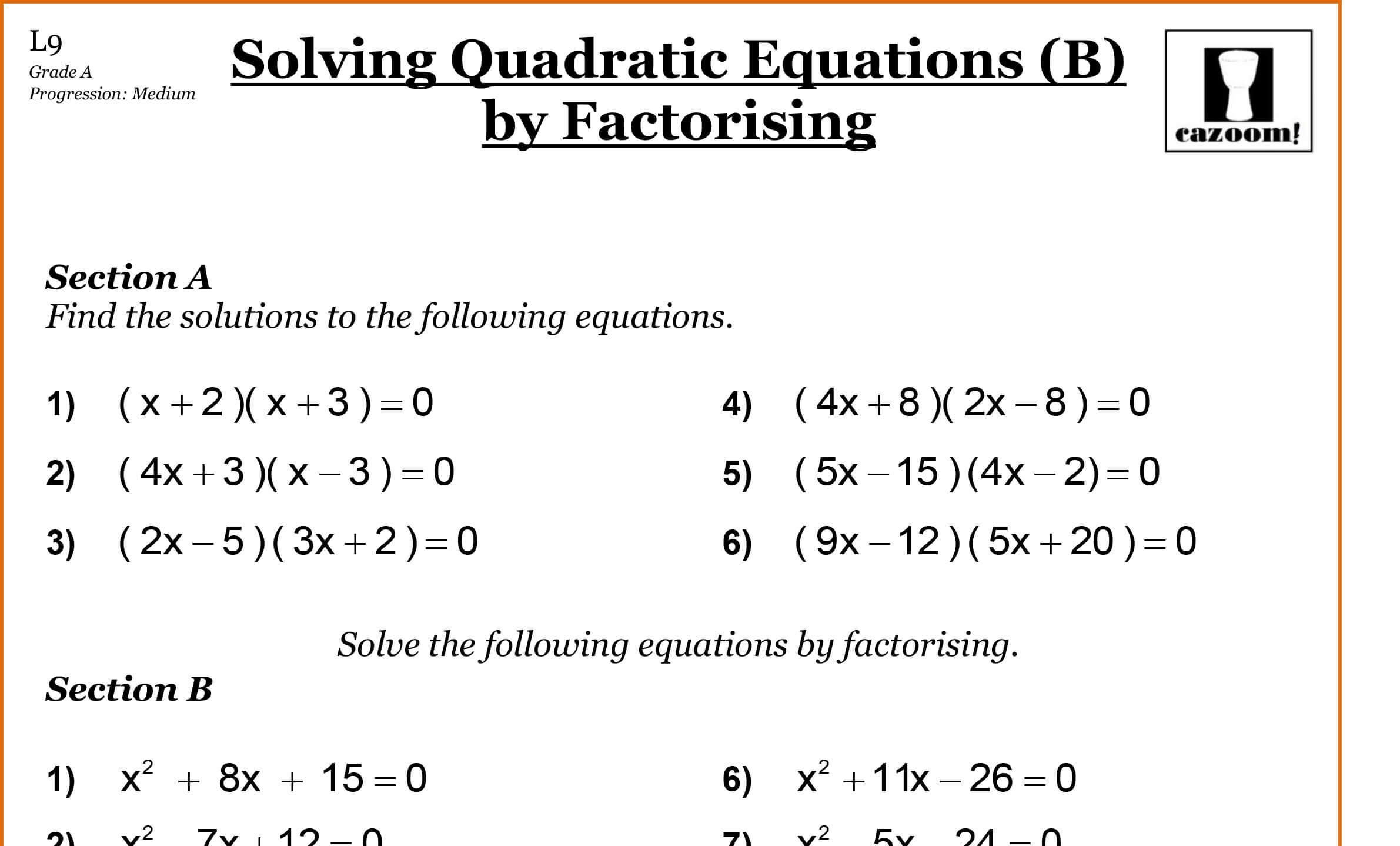 42 Quadratic Formula Practice Worksheet With Answers in ...