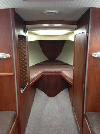 Folkboat | Interior: Teak, Microfiber And Carpet. Sailboat Interior, Boat  Building,