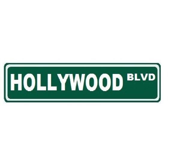 Photo of Hollywood Blvd Custom Street Sign 6×24″ Novelty Sign Home Decor Novelty Humor Motivation Funny Sign Famous Street Sign California Great Gift