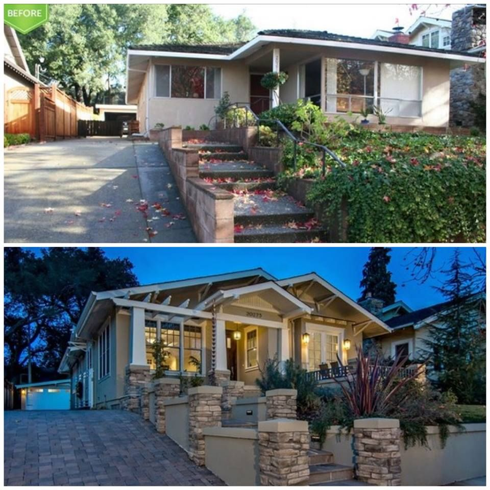 Home Exterior Makeover: Before And After: From Ranch To Craftsman