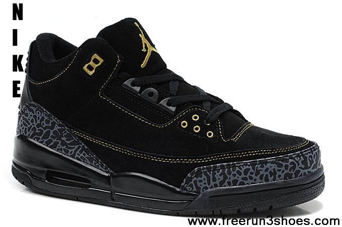 ff00547f0b7 Star s favorite Air Jordan 3 (III) Suede Black Cement Basketball Shoes Store