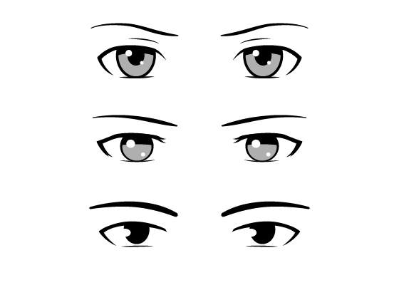 This Is Guide And A Reference For Drawing Different Styles Of Male Anime And Manga Eyes It Provides Examples As Well As Manga Eyes Eye Drawing Anime Drawings