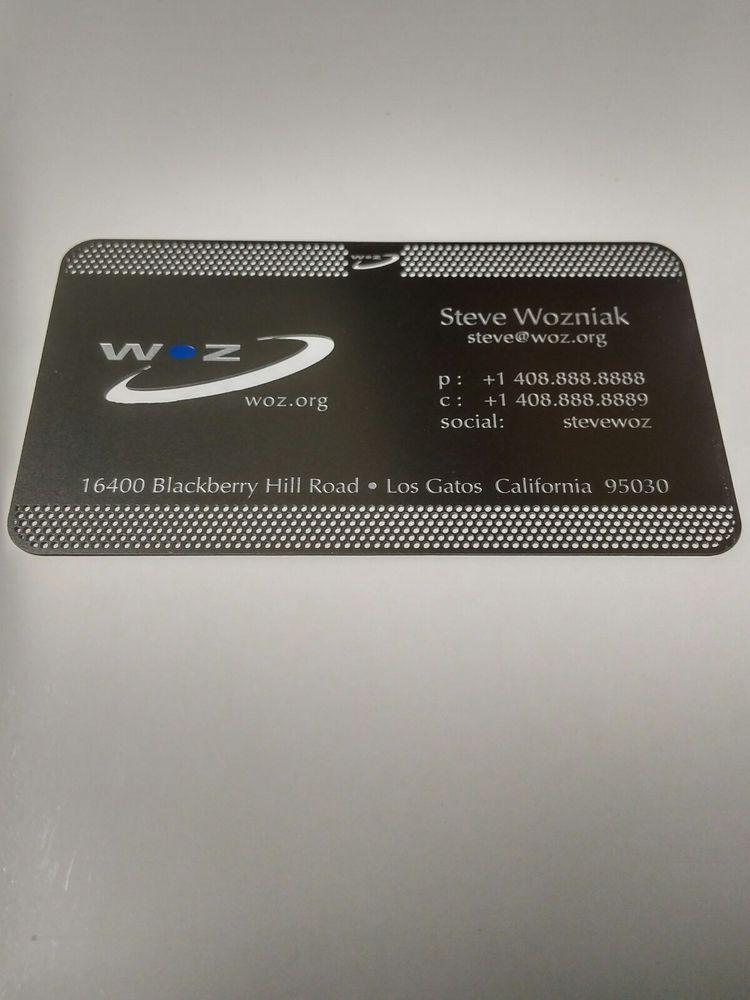 Steve wozniak metal business card apple computer co founder woz steve wozniak metal business card apple computer co founder woz unbrandedgeneric reheart Images