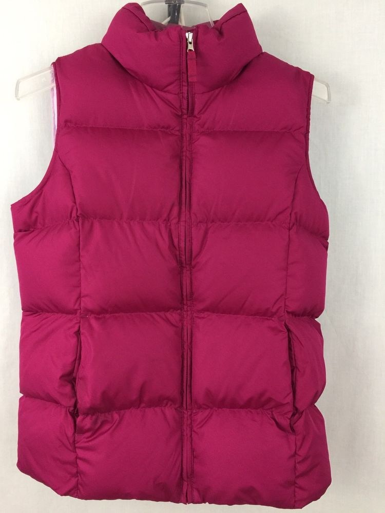 2bc36e9cf LANDS  END Kids Down Filled Pink Puffer Vest Girl s Size Large L (14 ...