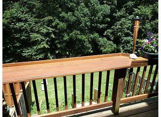 Lovely Balcony Railing Shelf