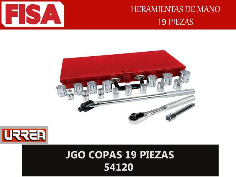 JGO COPAS 19 PIEZAS 54120. Herramientas de mano 19 piezas-  FERRETERIA INDUSTRIAL -FISA S.A.S Carrera 25 # 17 - 64 Teléfono: 201 05 55 www.fisa.com.co/ Twitter:@FISA_Colombia Facebook: Ferreteria Industrial FISA Colombia