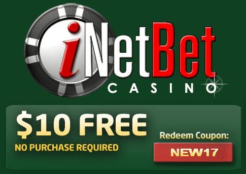 Inetbet Casino 10 Free Chip No Deposit Bonus Casino Casino Bonus Deposit