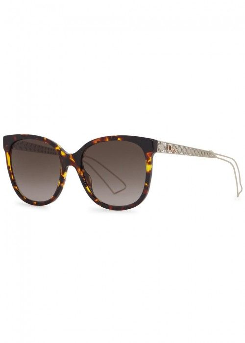 b8aa3f3dda3 Christian Dior tortoiseshell acetate sunglasses Grey lenses