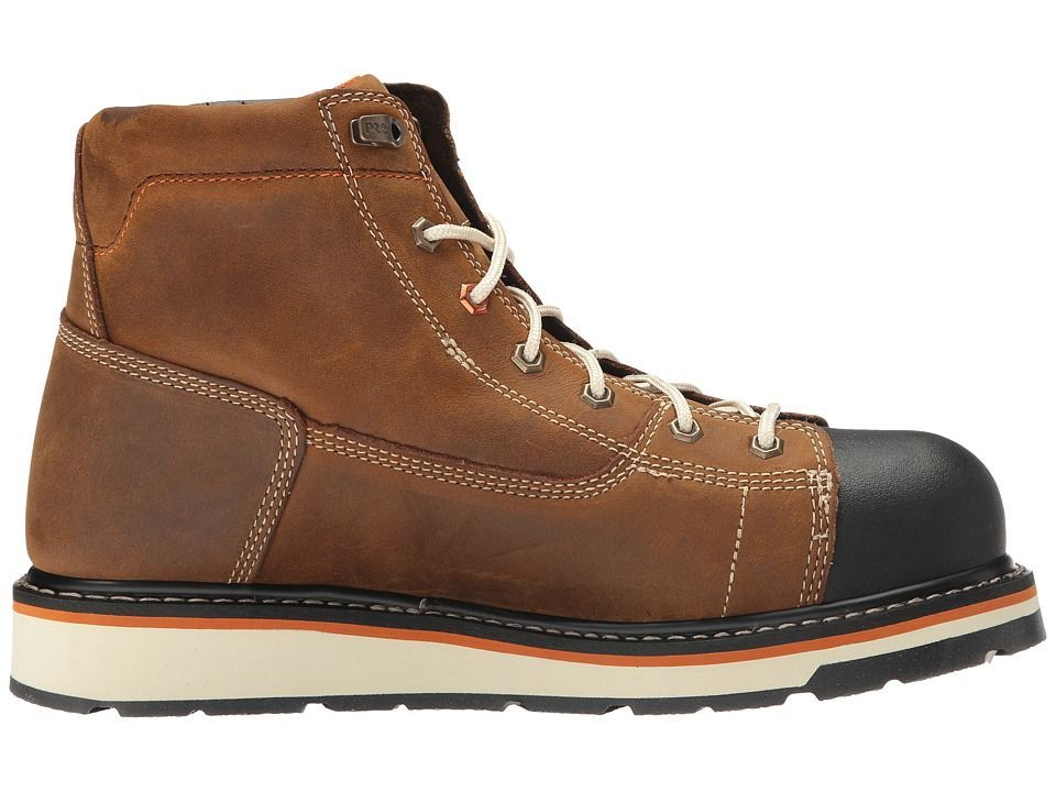 Timberland PRO Gridworks 6 Soft Toe Boot Men's Work Boots Brown Full-Grain  Leather