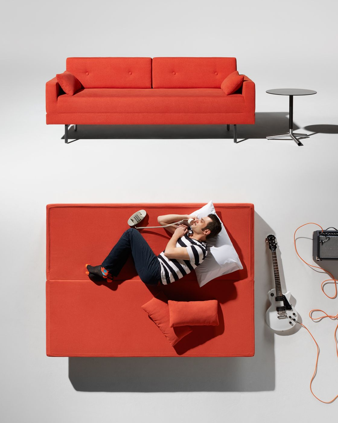 One Night Stand Sleeper Sofa Instant Sleepover Enabler Our Goal Was To Design A Modern That Doesn T Look Like