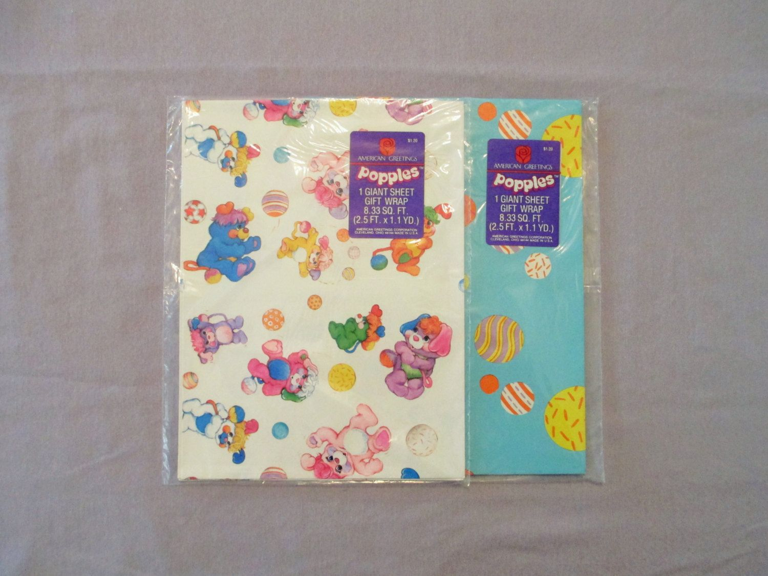 Reserved For Shysmarty2012 Popples Wrapping Paper Vintage Gift
