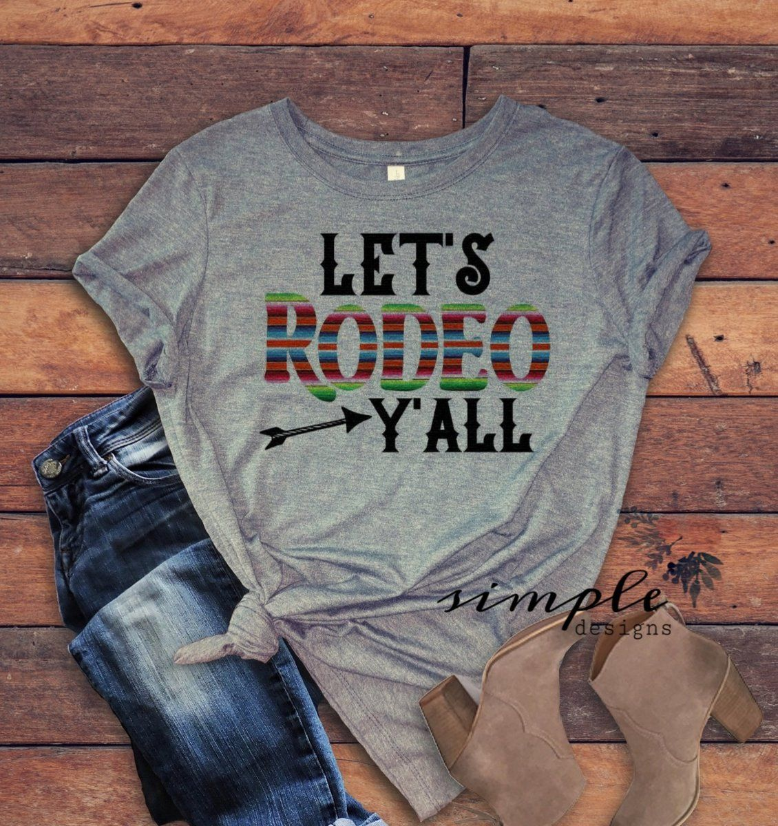 2cbd84b3 Let's Rodeo Y'all T-shirt, Rodeo Riders Tee, Rodeo Shirt in 2019 ...